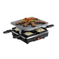 Domoclip - Appareil à raclette pierre à gril, plateau en granite amovible pour 4 personnes