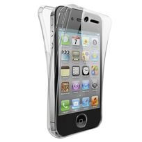 Cabling - Coque Double Gel Silicone Protection Integral pour le Smartphone Iphone 4/ 4S/ - Transparent Invisible
