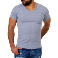 Beststyle - Tee shirt homme simple gris