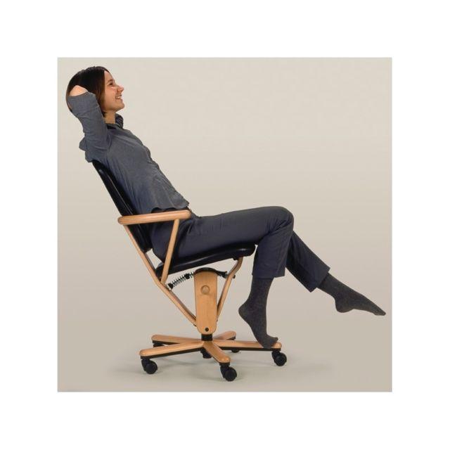 Moizi Fauteuil ergonomique 18 haut avec accoudoirs