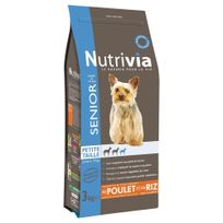 Nutrivia - Croquettes au Poulet et Riz pour Chien Sénior de Petite Taille 3Kg