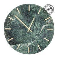 Kare Design - Horloge murale Desire marbre vert