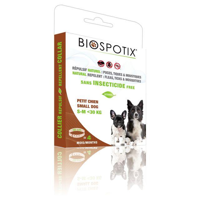 Biospotix Collier Répulsif pour Chiot et Petit Chien 38cm