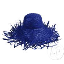 5273a62d572 Lot de 6 - Chapeau de paille boule avec franges bleu - Qualité. COOLMINIPRIX  ...
