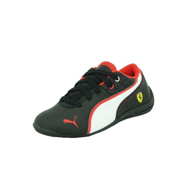 328dd7e5d39 Puma - Puma Drift Cat 6 Nm Scuderia Ferrari Jr Chaussures Mode Sneakers  Motorsport Enfant Noir