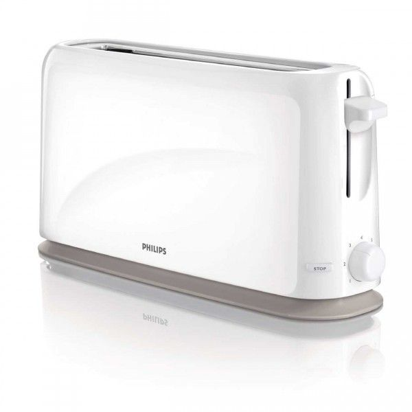 Philips Grille pain 1 fente large Blanc Hd2598-00