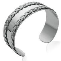 Collection Zanzybar - Bracelet acier jonc plat tressé collection Jazz