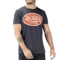 Vondutch - Tee shirt Aaron gris Homme Von Dutch