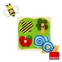Goula - Encastrement 4 pièces en bois : Puzzle campagne
