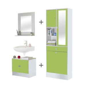 meuble salle de bain vert pomme