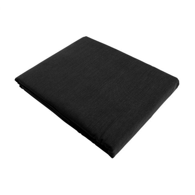 marque generique drap plat 240 cm confort noir 300cm x 240cm pas cher achat vente draps. Black Bedroom Furniture Sets. Home Design Ideas