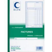 """- manifolds autocopiants """"facture"""" ncr a4 50/3"""