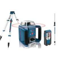 Bosch - Laser rotatif de portée 400m à mise à niveau automatique horizontale GRL 400 H + trépied 1.65m BT 170 HD + mire 2.40m GR 240 061599403U