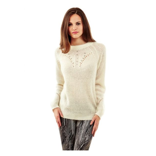 GUESS Pull Candida Blanc - Couleur - Blanc, Taille - Xl