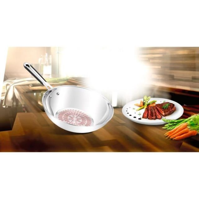 Icaverne WOK Poele wok Pro Inox - Ø 28 cm - Induction