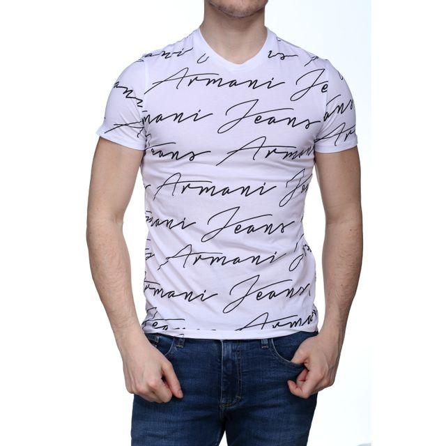 Armani - T Shirt Jeans 3y6t40 - 6jpfz 1100 Blanc - pas cher Achat ... 954baaa2639