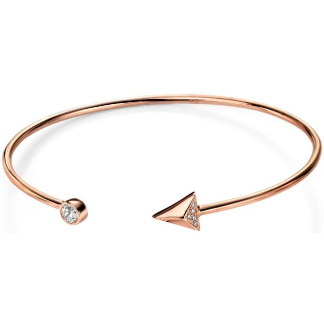 Mon Bijou Mon-bijou - D4747 - Bracelet flèche plaqué Or rose en argent 925/1000