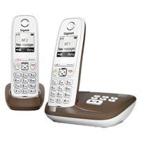 Gigaset - As405A Duo Téléphone fixe Dect/GAP Marron