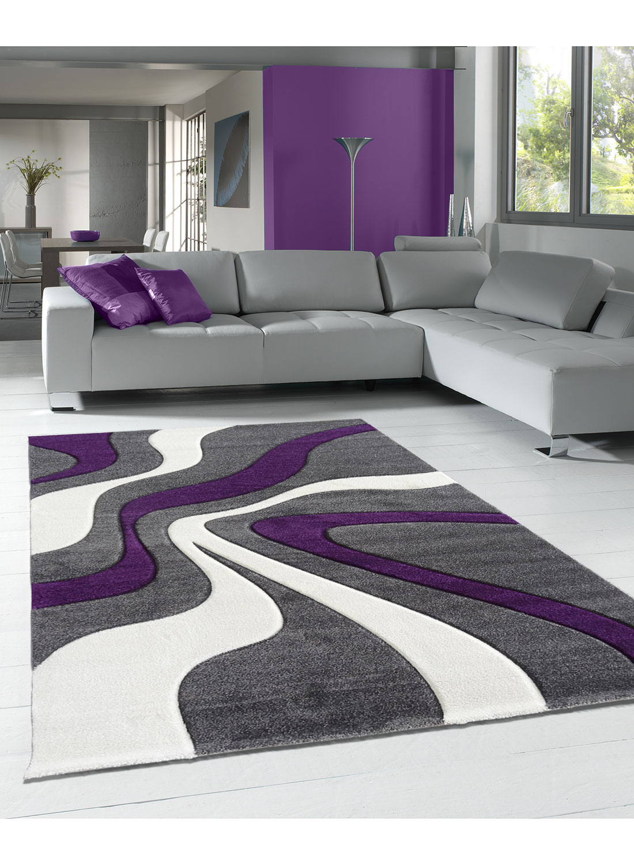 Tapis DIAMOND VAGUES violet Tapis Moderne 60 x 110 cm violet 60 x 110 cm