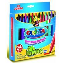 Carioca - Jumbo BoÎTE De 24 Feutres De Coloriage Lavables