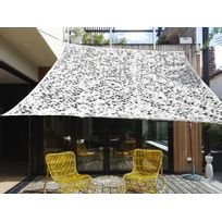 Ideanature - Voile d'ombrage rectangulaire 3x4m en polyesther 150gr/m² + filet Ibiza Blanc