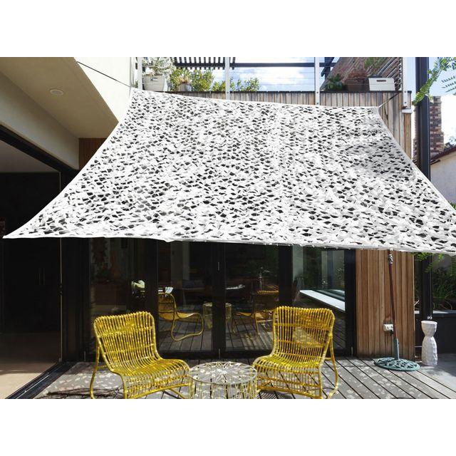 ideanature voile d 39 ombrage rectangulaire 3x4m en. Black Bedroom Furniture Sets. Home Design Ideas