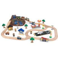 KIDKRAFT - Circuit de train en bois Montagnes