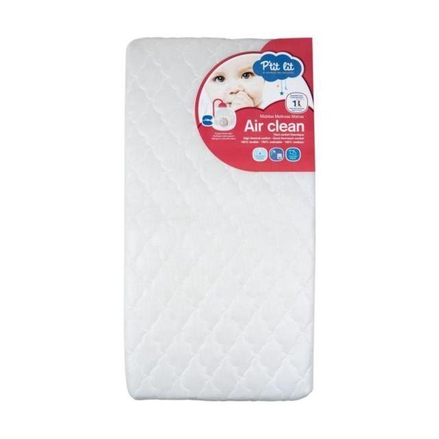 MATELAS BEBE Matelas bébé Airclean - Entierement lavable - Ultra-ventilé - Déhoussable- Fabrication française - 60 x 120