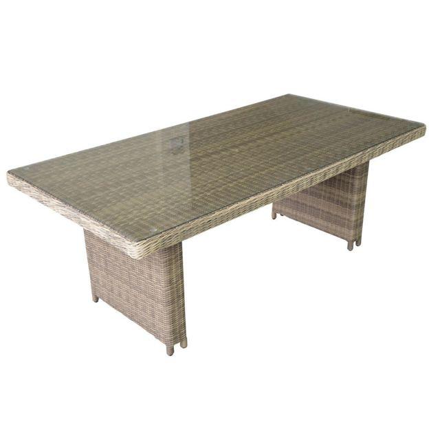DLM - Table de jardin rectangulaire 180x100cm en résine ...