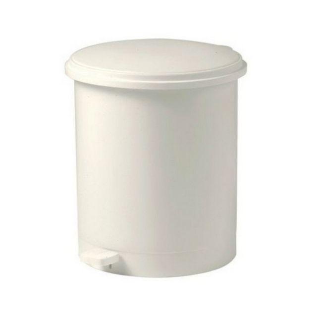 EDA poubelle à pédale 16l blanc - 10604be.cr