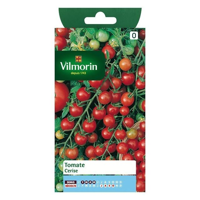 vilmorin sachet graines tomate cerise pas cher achat. Black Bedroom Furniture Sets. Home Design Ideas