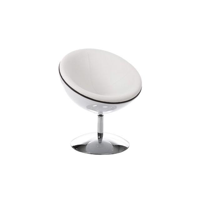 Fauteuil design 60x70x78cm Spherea - blanc