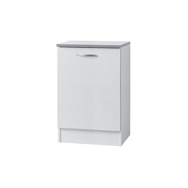 Meuble bas L60xH86xP60cm - blanc