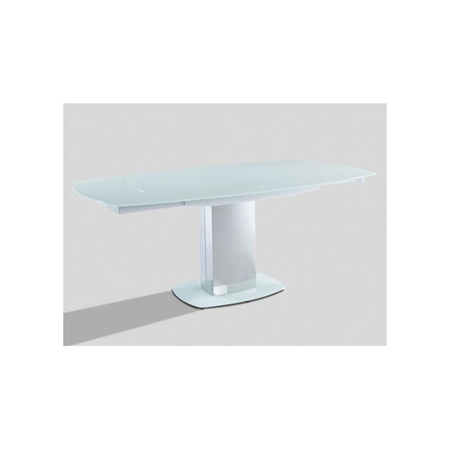 Marque generique table manger extensible talicia verre tremp m tal 6 8 couverts for Carrefour table a manger