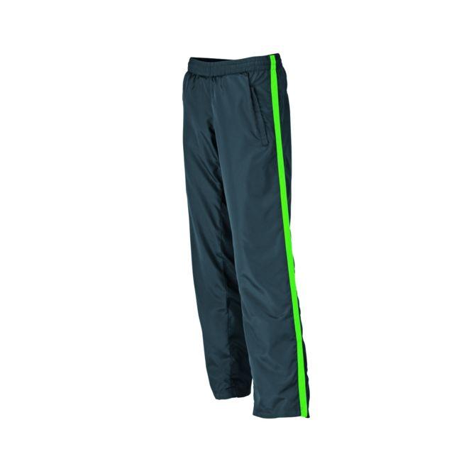 James   Nicholson - pantalon running jogging Jn489 - gris fer - vert - femme  - course à pied - pas cher Achat   Vente Pantalon femme - RueDuCommerce e5ba3454bdb