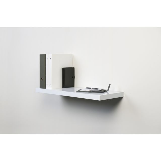 tablette fixation invisible blanche xl4 x pas cher achat vente etag res. Black Bedroom Furniture Sets. Home Design Ideas
