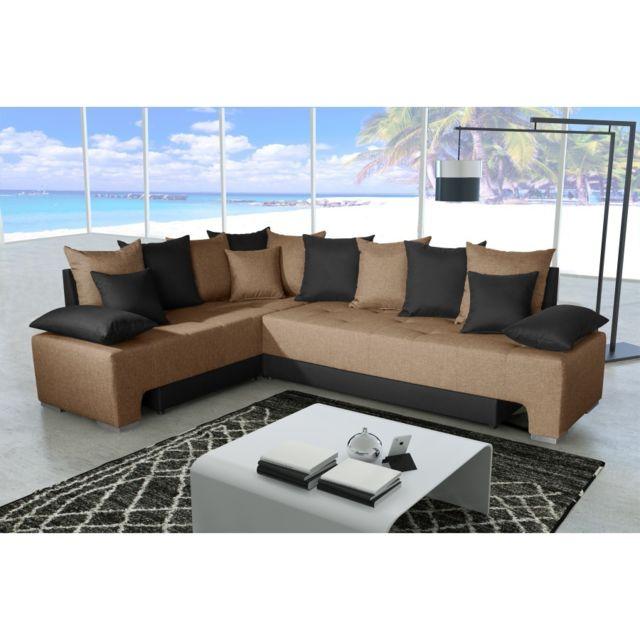 Rocambolesk Canapé Duo plus savana brun 25 / sawana 14 noir sofa divan