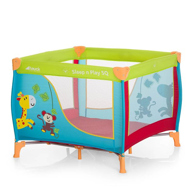 hauck lit parapluie sleep and play sq jungle fun multicolore pas cher achat vente lit. Black Bedroom Furniture Sets. Home Design Ideas