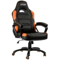NITRO CONCEPTS - Fauteuil Gaming C80 Comfort - Noir/orange