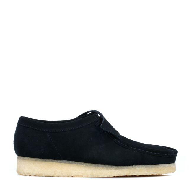 Clarks Originals Mens Black Wallabee Suede Shoes UK 9