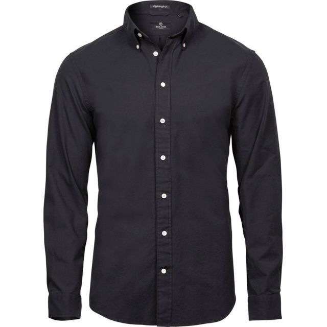 Tee-jays Chemise homme Oxford - 4000 - noir - manches longues