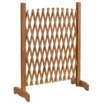Barrière extensible en bois 150 x 90 x 30 cm