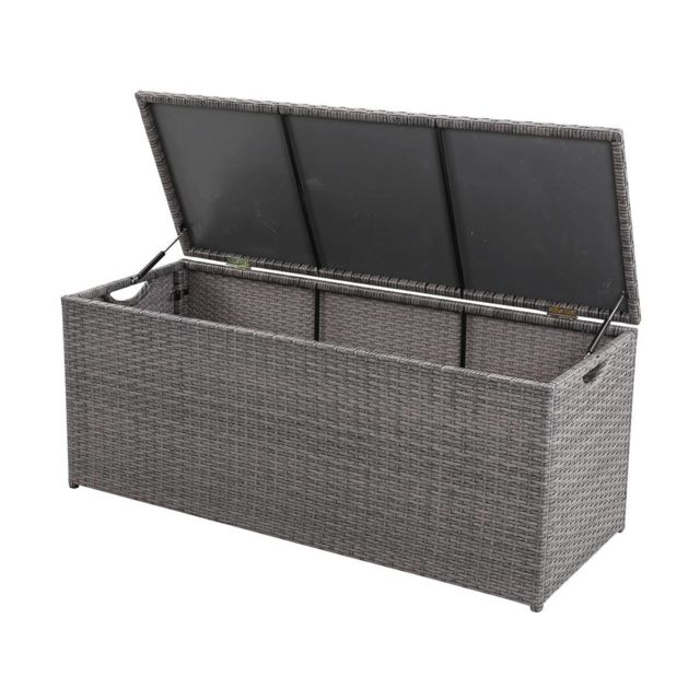 habitat et jardin coffre jardin victor 340l florida 150 x 50 x 52 cm gris unie pas. Black Bedroom Furniture Sets. Home Design Ideas