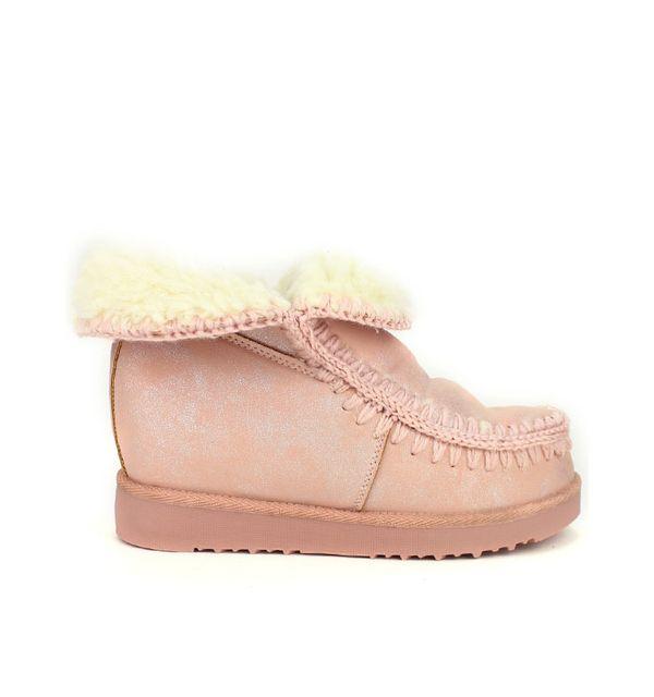 c4231f18a1ba12 Cendriyon - Boots pailletées pink fourrées Clara Moda Rose - pas cher Achat  / Vente Boots femme - RueDuCommerce