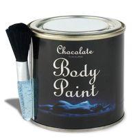 Totalcadeau - Peinture pour corps chocolat + 1 pinceau 200g peinture comestible