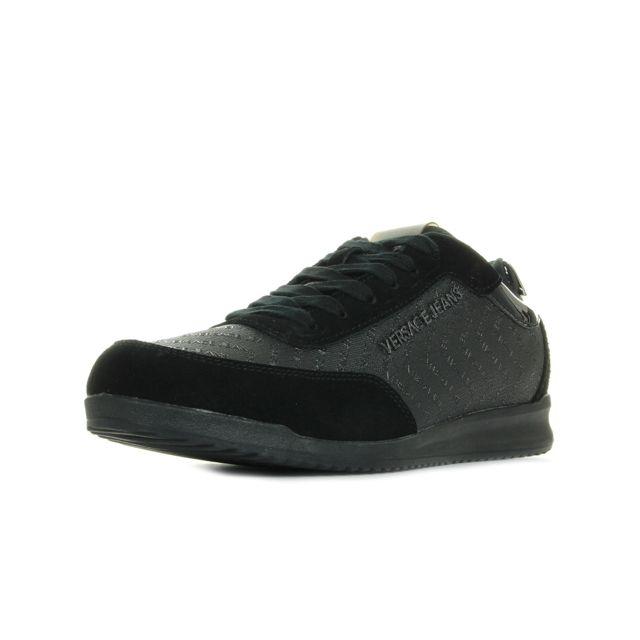 Versace - Linea Fondo Marc Dis 1 Coated Chevron Noir - 41 - pas cher Achat    Vente Baskets homme - RueDuCommerce d39eda6eb13
