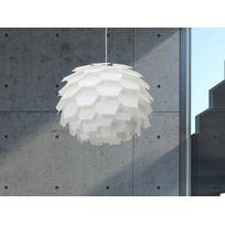 Beliani - Lampe de plafond - suspension - plafonnier - luminaire blanc - Segre Maxi