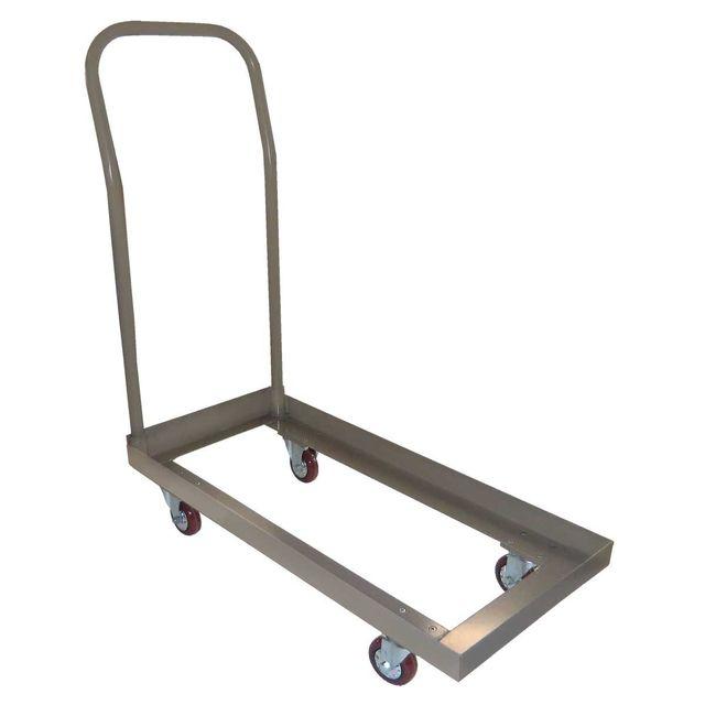 mobeventpro chariot pour chaises pliantes gris pas cher achat vente chaises de jardin. Black Bedroom Furniture Sets. Home Design Ideas