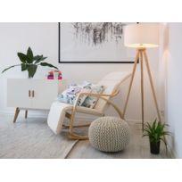 Beliani - Chaise à bascule ivoire design contemporain - Weston