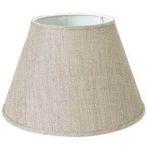 kosilum grand abat jour lin beige 33 cm tina pas cher achat vente abats jour. Black Bedroom Furniture Sets. Home Design Ideas